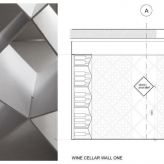Sophie Bates Architects Wine Cellar to Putney basement London cad sketch