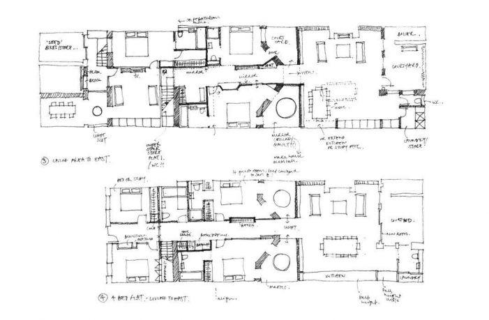 Publisher's house sketch plans architect