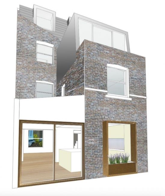 Gardenhouse Rear Elevation Sophie Bates Architects London