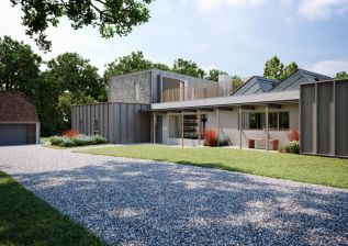 Sophie Bates Architects new build house Ewhurst Surrey front view 028 .jpg